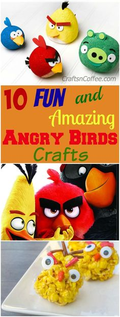 10 Fun and Amazing Angry Birds Crafts for Kids