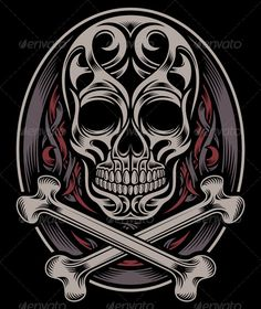Skull and Crossbones — JPG Image #bones #gothic • Available here → https://graphicriver.net/item/skull-and-crossbones/6015174?ref=pxcr