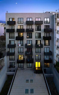 Patras Student Studios balkons terrassen appartementen studios compositie gevel