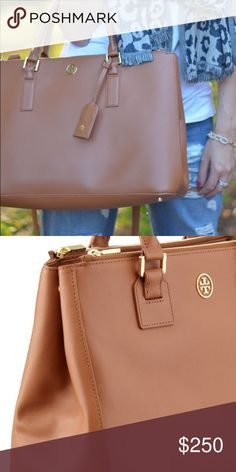 Tory Burch Robinson Double Zip Large Tote Luggage Excellent, brand new  condition. Wore a f888fbf6e4