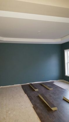 Sherwin Williams Riverway in dining room