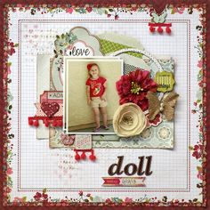 Scrapbook page by Kris Berc: My Creative Scrapbook July Limited Edition Kit: Webster's Pages Plum Seed