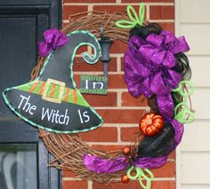 Witch Halloween Wreath Holiday BOO Treak or Treat Fall by hgab129, $65.00