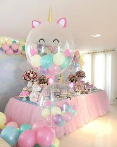 Unicorn Birthday Party Balloons Decorations
