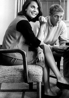 Natalie Wood and Steve McQueen on the set of LOVE WITH THE PROPER STRANGER (1963)
