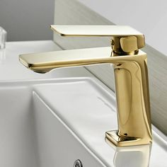 Feature: None Valve Core Material: Ceramic Style: Contemporary Faucet Mount: Single Hol Gold Bathroom Faucet, Gold Faucet, Bathtub Faucets, Bath Mixer Taps, Basin Mixer, Basin Taps, Amazing Bathrooms, Black Bath, Black Oil