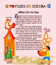 """CLASA NOASTRĂ: POVESTEA LITEREI """" G """" Alphabet Worksheets, Preschool Worksheets, Baby Education, Math For Kids, Educational Activities, Home Crafts, Projects To Try, Books, Literatura"""