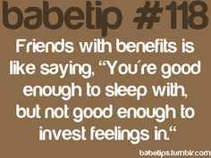 NOELLE: Can friends with benefits work