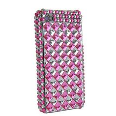 Cube Diamond Rhinestone Hard Case for iPhone 4 iPhone 4S (Pink). $12.99, via Etsy.