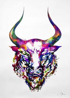 Со всего света: Бык (эскизы и работы) #2 тату, бык, эксизы, арт, длиннопост, телец