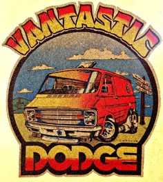 da368e9d2 DODGE VANTASTIC Vintage 70s t-shirt iron-on transfer authentic NOS retro  american fashion Hot Rods Muscle Cars