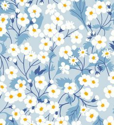 New Classics 2017 – libertyaddict Mitsi Valeria Baby Blue 0363 8022 A. Pretty Patterns, Beautiful Patterns, Flower Patterns, Blue Patterns, Deco Floral, Motif Floral, Floral Prints, Surface Pattern Design, Pattern Art