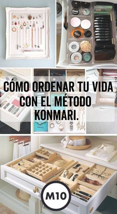 How to order your life with the KonMari - Woman of 10 method: Real guide for today& woman. Home Interior, Interior Design Kitchen, Ideas Para Organizar, Konmari Method, Declutter Your Home, Tidy Up, Home Hacks, Organization Hacks, Getting Organized