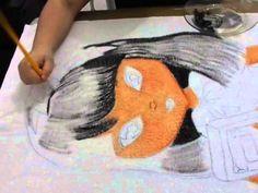 Cabelo Jolie Japonesa, como pintar na felpa