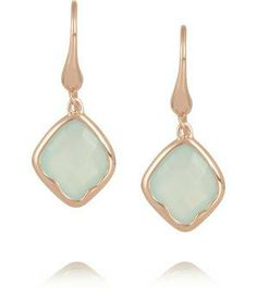 Riva rose gold-plated chalcedony earrings