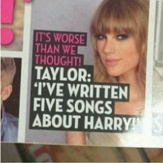 Wow, Didn't see that coming said no one ever...I hope this is a rumor and she didn't actually write five songs on him.