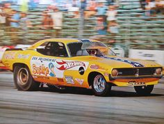 """Don """"The Snake"""" Prudhomme Plymouth Barracuda AA/FC Funny Car. Hotwheels."""