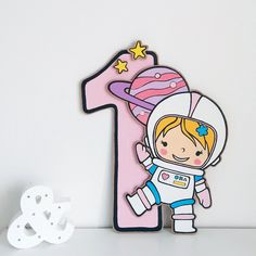 A little Astronaut girl birthday outer space party decor Pink First Birthday, First Birthday Parties, Girl Birthday, First Birthdays, Outer Space Decorations, Pink Decorations, Outer Space Party, 1st Birthday Party Decorations, Topper