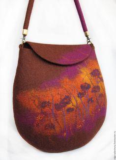 Сумка На закате. - коричневый, фиолетовый, оранжевый, закат, сумка ручной работы
