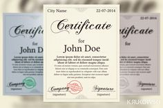 Check out Certificate Template by Krukowski on Creative Market