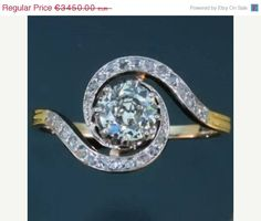 Victorian diamond engagement ring by adinantiquejewellery, €3105.00