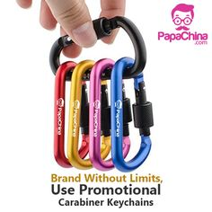 Custom Carabiner Keychains Wholesale ensure the best designs to match the globally placed customers. Advertising events are being executed at high precision. Aluminum body keeps the complete key chain meets the durable products as per the client requirements