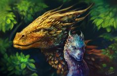 Glaedr and Saphira by Roklain on DeviantArt Magical Creatures, Fantasy Creatures, Eragon Saphira, Saphira Dragon, Fantasy Dragon, Fantasy Art, Eragon Fan Art, Inheritance Cycle, Christopher Paolini