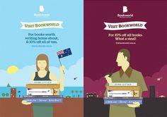 'Visit Bookworld' Campaign on Behance