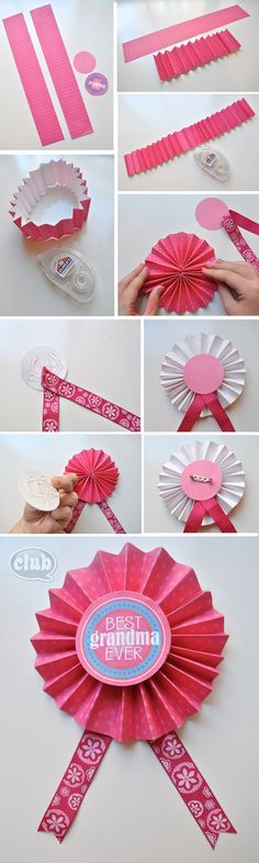 Step by Step - Make your own medal.  Perfect for Mothers Day or Summer Camp (includes Best Grandma or Best Mom printable)