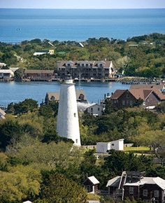 Ocracoke Island, NC... Across the lake View of Captain's Landing. Swoon❤️ We had our dream wedding there... A heavenly week -- the Landing's penthouse -- with family and dear friends. ❤️smo❤️