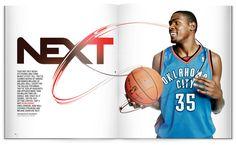 Kevin Durant layout for ESPN Magazine, by Alex Trochut