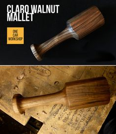 How to make a mallet suitable for woodworking use, especially chisel work and carving, from a chunk of Northern California Claro Walnut.