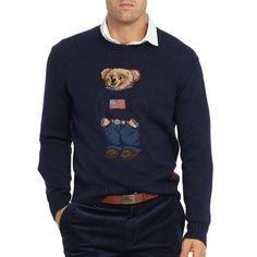 bb4186b6d1eb1b Ralph Lauren Limited Edition Bear Jumper Sweater Navy XXL Cotton Linen BNWT   RalphLauren  Jumpers