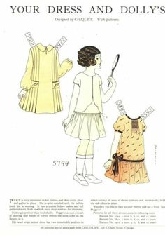 1927 chiquet paper doll with dresses 5794