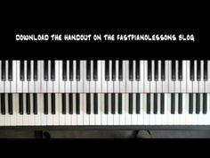 Easy Blues Piano Lessons - 12 Bar Blues in C - 8th Note Boogie - Chords ...