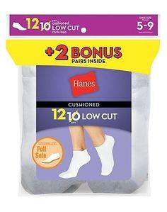 Medium, Hearts Assorted Hanes Girls 4-Pack Classics Low Cut Scallop Socks