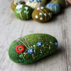 embroidered stone...by Lilfish studios