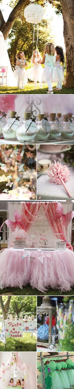 Fairy Birthday Party Inspiration and Ideas Beautiful princess party. Love the butterfly garland! Fairy Birthday Party, Girl Birthday, Birthday Parties, Birthday Ideas, Girl Parties, Lila Party, Fairy Tea Parties, Tinkerbell Party, Tinkerbell Fairies
