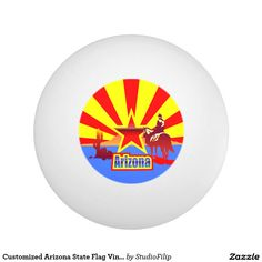Customized Arizona State Flag Vintage Drawing Ping-Pong Ball