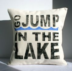 Lake House Beach Cottage Pillow Cover by CariJoyDesigns on Etsy, $24.00