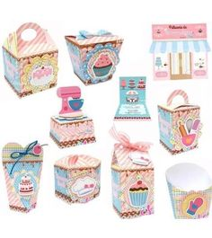 Birthday Table, 4th Birthday, Diy And Crafts, Paper Crafts, Creative Box, Cupcake Boxes, Cookie Box, Ice Cream Party, Candy Party