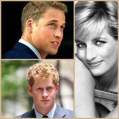 Princess Diana, Prince William Prince Harry