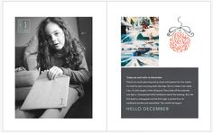 December Daily 2014 Day 1 | Book Advent | 8x10 Blurb photo book pocket page layout | yolandamadethis.com