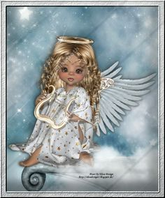 Cartoon Girl Images, Girl Cartoon, Angel Drawing, Baby Fairy, Square Card, Fairy Dolls, Girls Image, Big Eyes, Beautiful Dolls