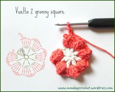 crochet Flower FREE Pattern and Video Tutorial Crochet Diy, Crochet Chart, Love Crochet, Crochet Motif, Crochet Doilies, Crochet Stitches, Crochet Small Flower, Crochet Flower Patterns, Crochet Designs