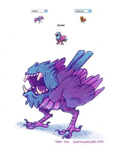 Pokemon Fusion Alternative Art Collection - Imgur - Looks like something out of Azure Dreams