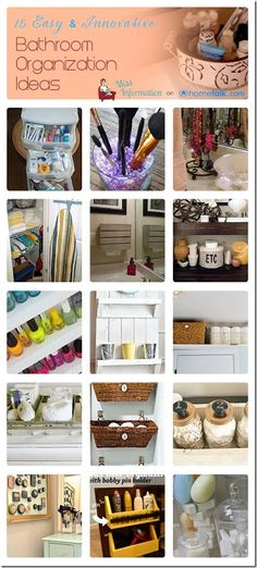 15 Easy and Innovative Bathroom Organization Ideas from Miss Information #Organizeit #hometalk #organization