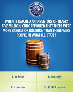Thursday, contestant Connor Rohan takes inventory of this #CNBC question on an all-new #MillionaireTV. Will choosing the correct #FinalAnswer have Connor over a barrel? Don't miss Thursday's show with host Terry Crews and see how far Connor goes. Go to www.millionairetv.com for local time and channel to watch!