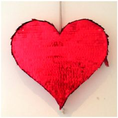 Love Heart Pinata in Red Foil by Party Pony Designer Pinata's www.partypony.net.au