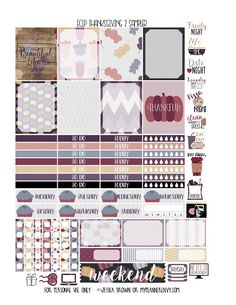 UPDATE PLEASE NOTE: I recently learned that MAMBI changed the weekly box size of their newest release of the Big Happy Planners. All of the stickers designed on this blog under the LabelBIG HAPPY PLA